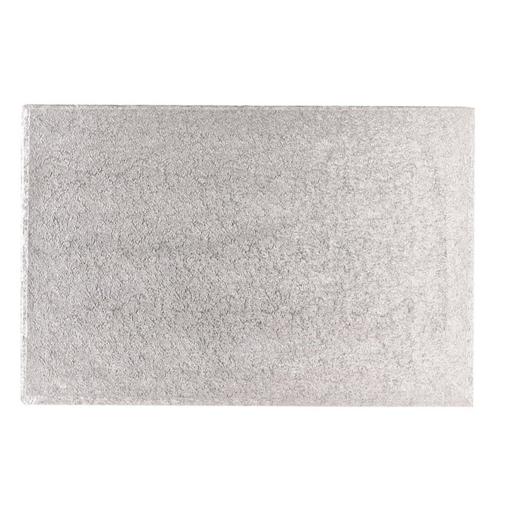 16 inch x 12 inch Silver Oblong Cake Drum / Boards 12mm Thick