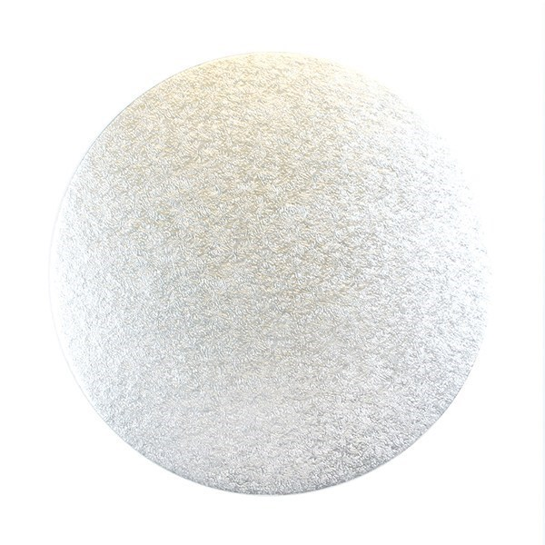 6 inch Round Silver 3mm Double Thick Cake Card