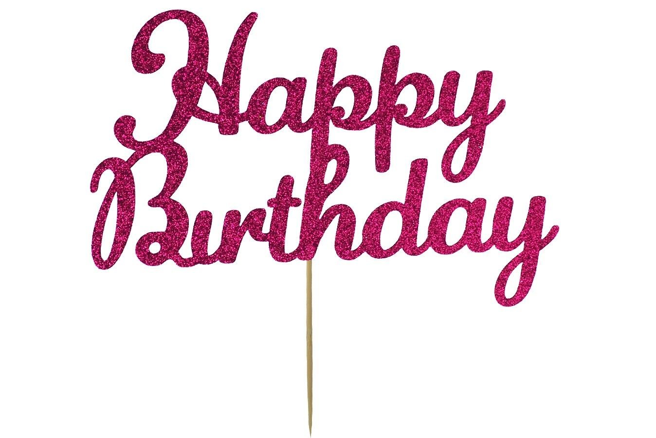 Awesome Kelsi Marsh Happy Birthday Bright Pink Glitter Cake Topper Personalised Birthday Cards Paralily Jamesorg