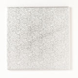 Square Silver 3mm Double Thick Cake Cards